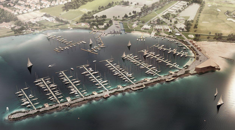 Detaljeret plan for Middelfart Marina marts 2018