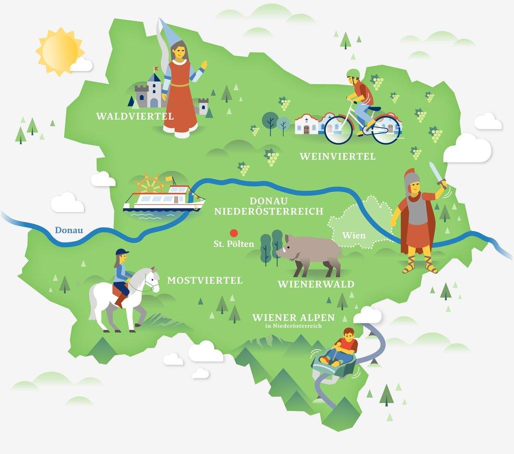 Karte Wien Niederosterreich.Familienurlaub In Niederosterreich