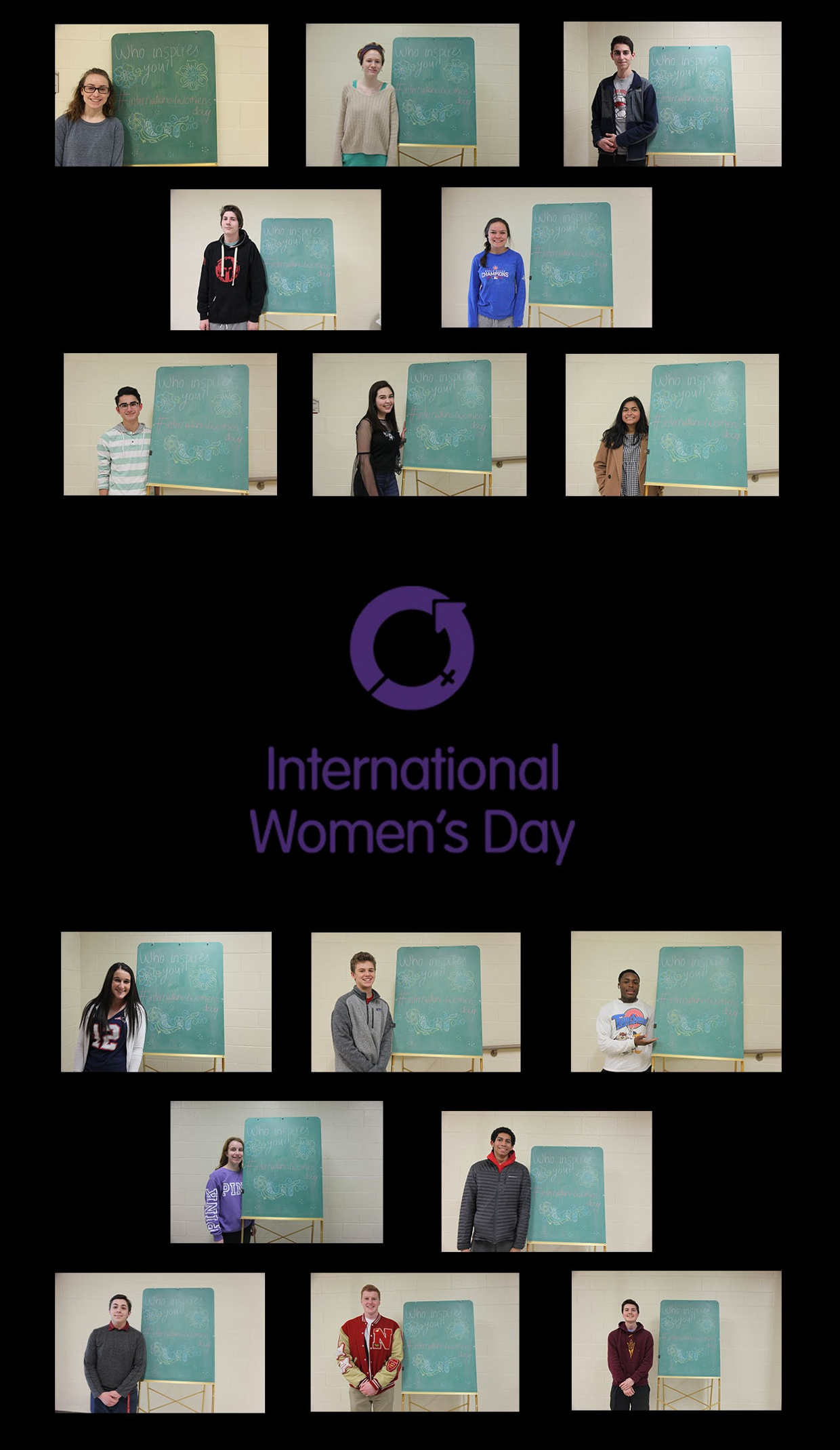Central students recognize International Women's Day