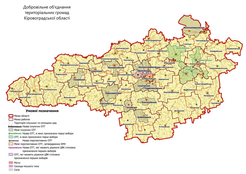 Об'єднані територіальні громади Кіровоградщини