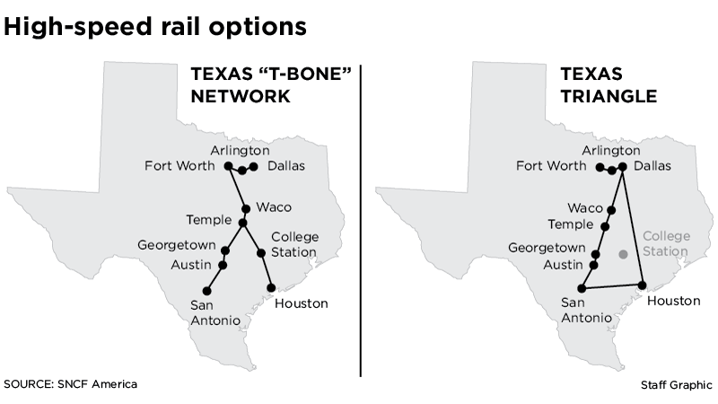 Dallas To Houston High Speed Rail Plan Will Make Texas I 35