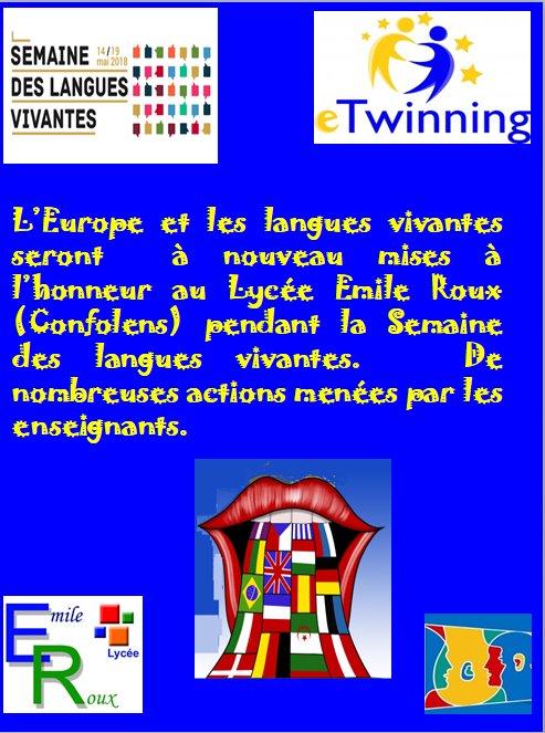 Semaine des langues vivantes_Lycée Emile Roux (Confolens)