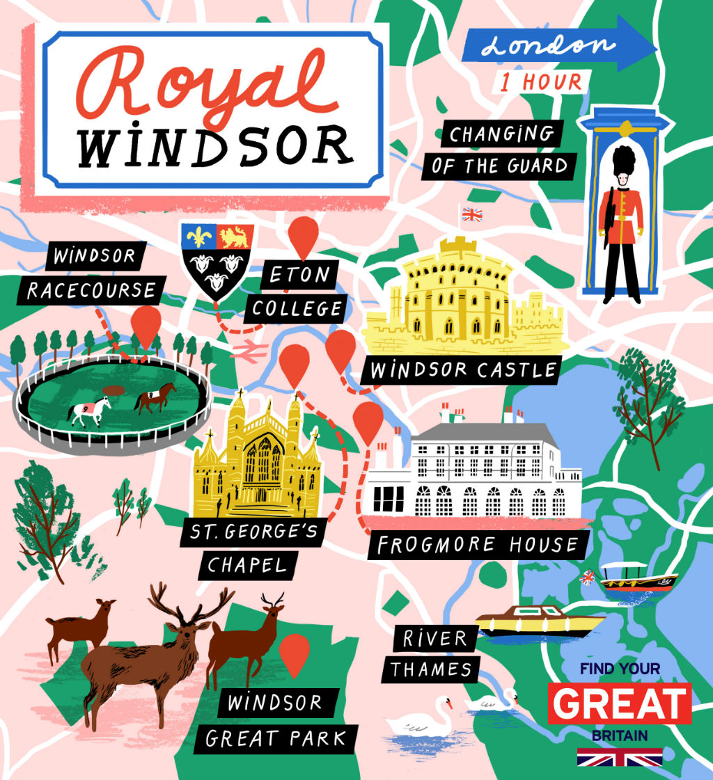 New Zealand Sightseeing Map.Royal Windsor Itinerary And Map Visitbritain