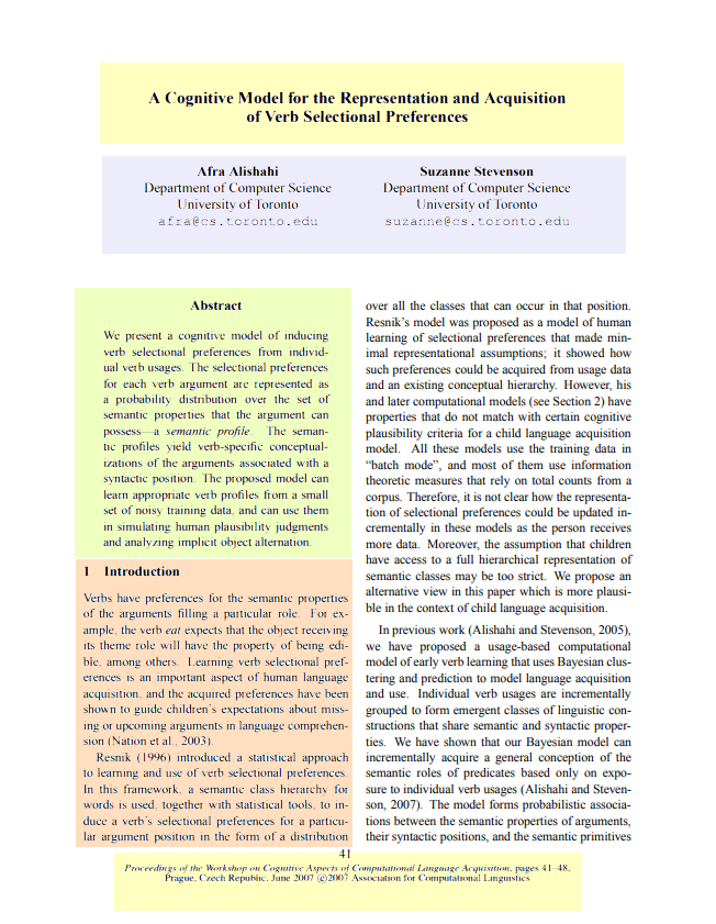 Interactive thinglink on the anatomy of a scholarly article. Page 1. Discussed above.