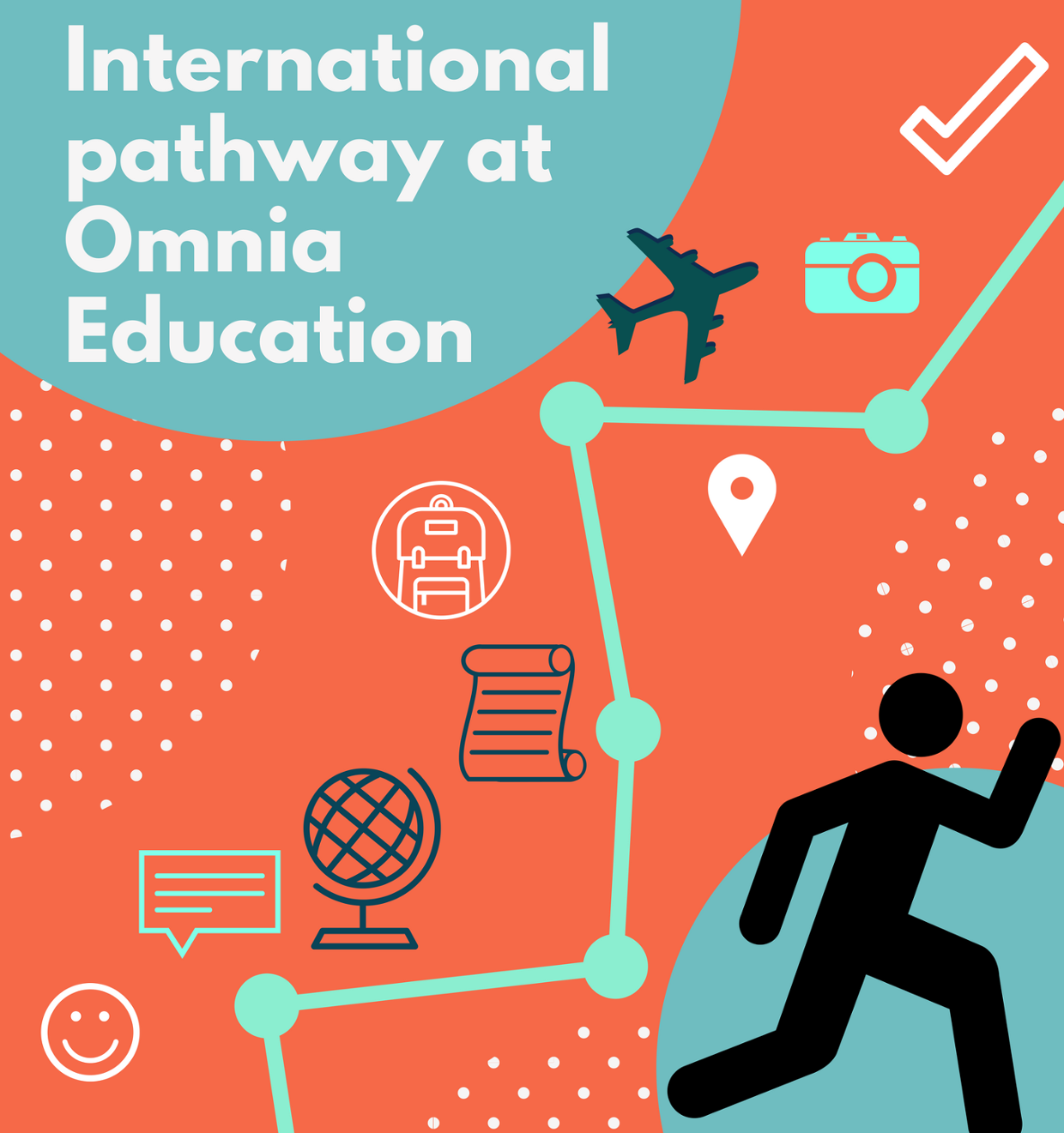 The international pathway at Omnia