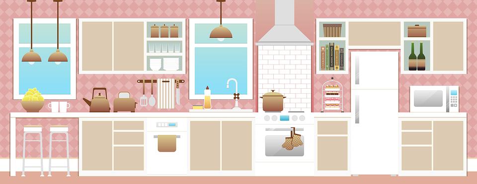 La lavastoviglie / la lavapiatti, il forno (elettrico), i...