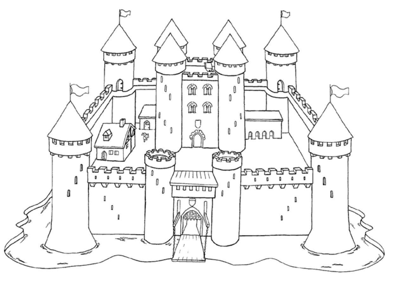 рыцарские замки рисунки картинки галерея