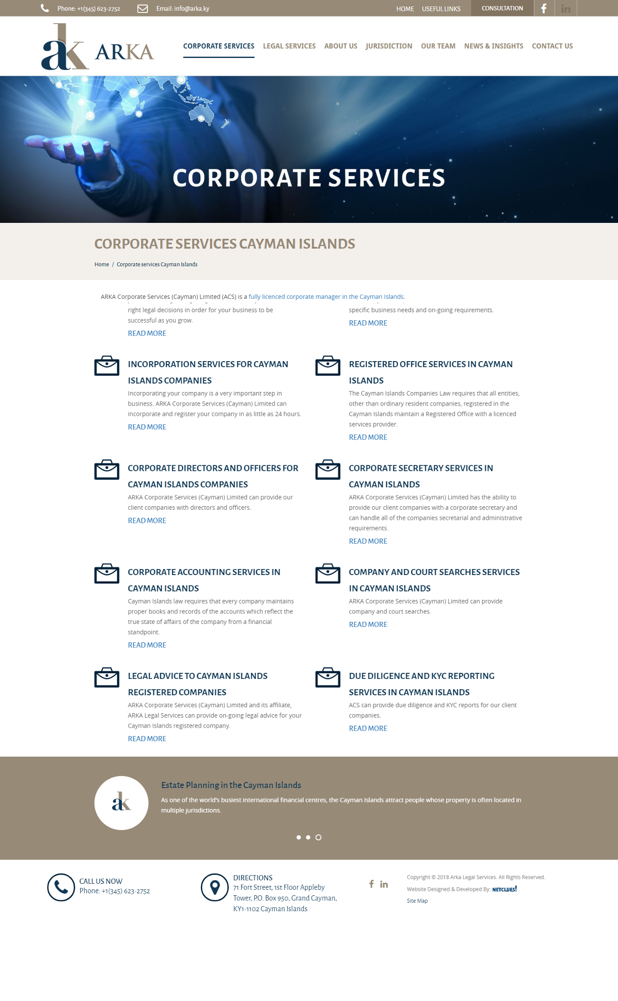 Are you looking for the corporate services? ARKA Corporat