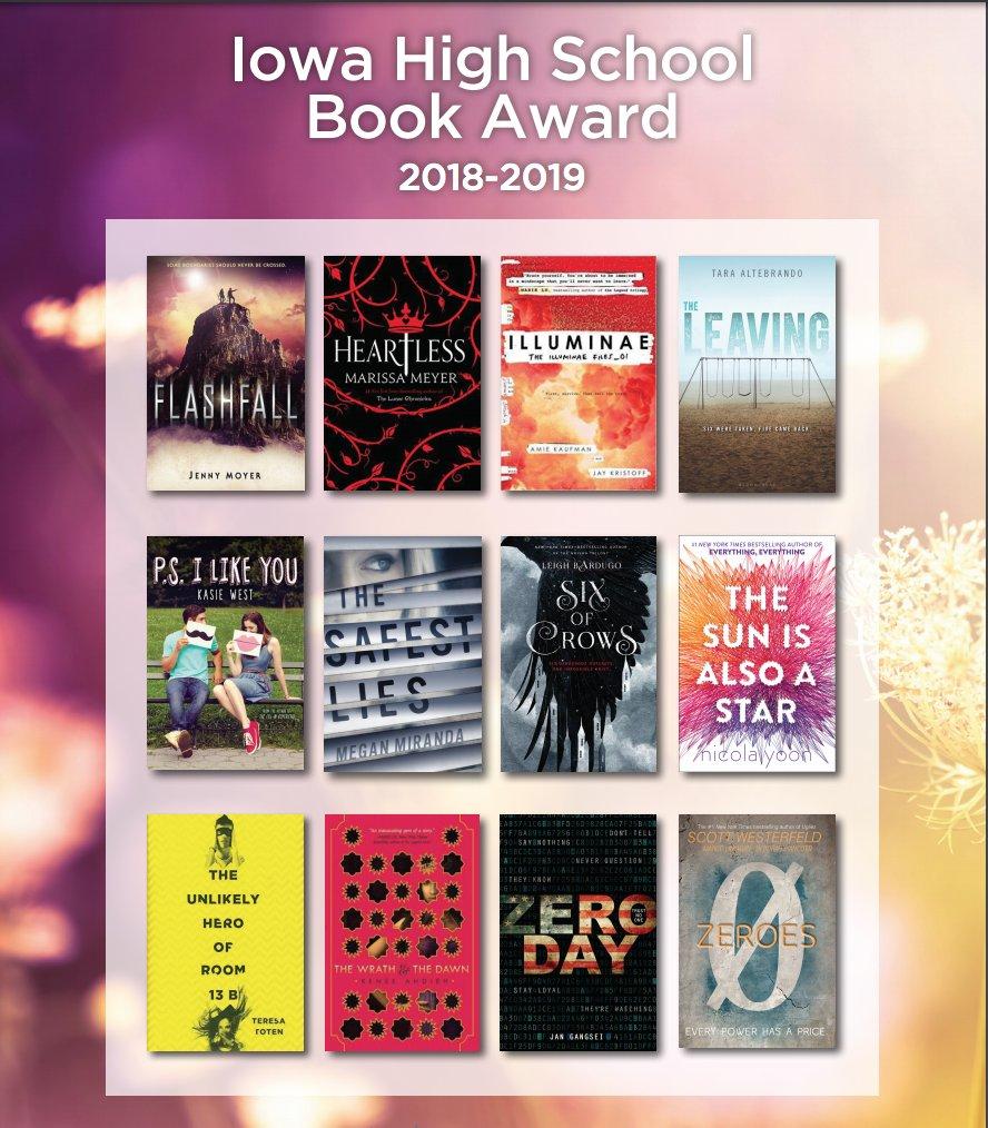 Iowa High School Book Award 2018-2019