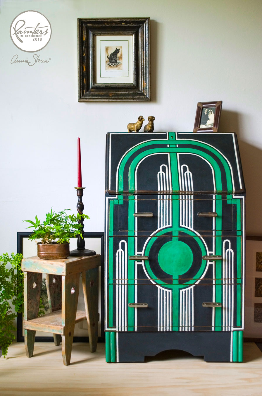 Art Deco Inspired Bureau by Jeanie Simpson