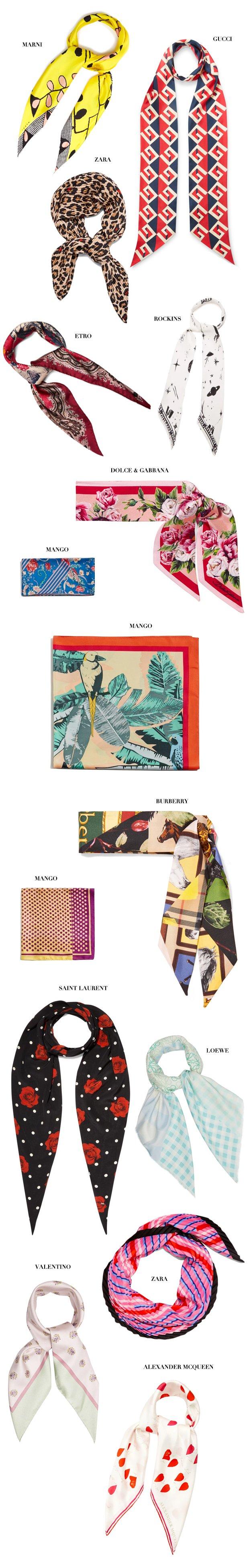 Шелковый платок – самый модный аксессуар для волос этого лета (фото 1)