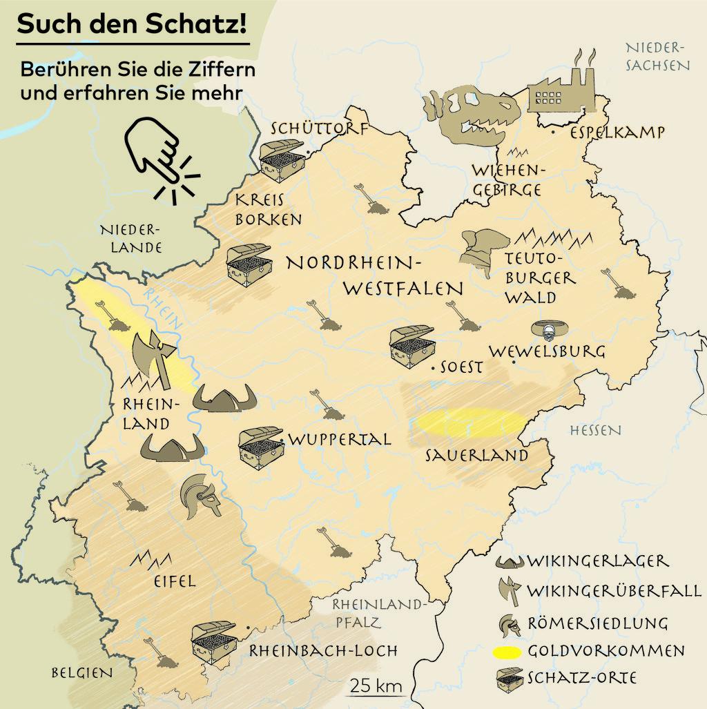Sauerland Karte Deutschland.Schatzsuche Wo Sie In Nrw Noch Gold Und Silber Finden