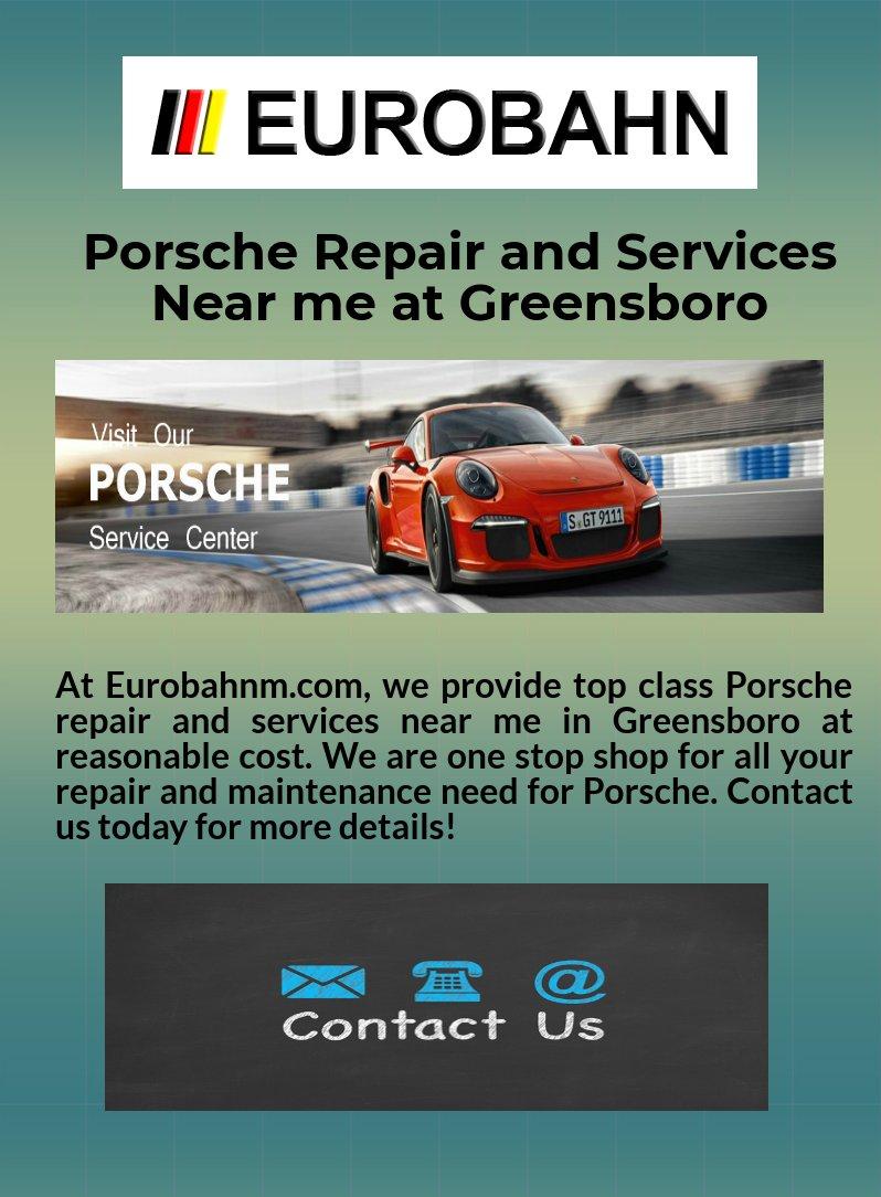 Porsche Repair and Services Near me at Greensboro