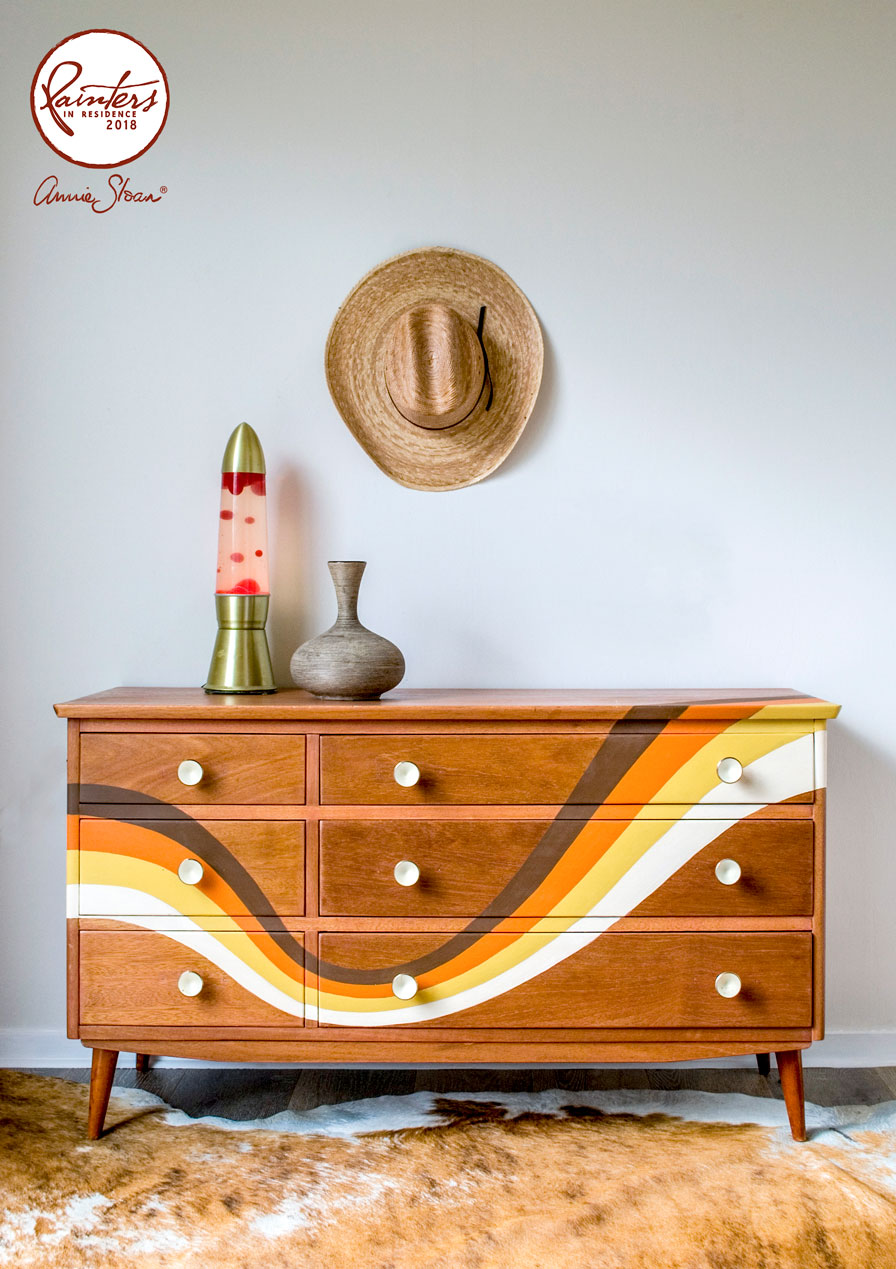1970s inspired chest of drawers by Jeanie Simpson