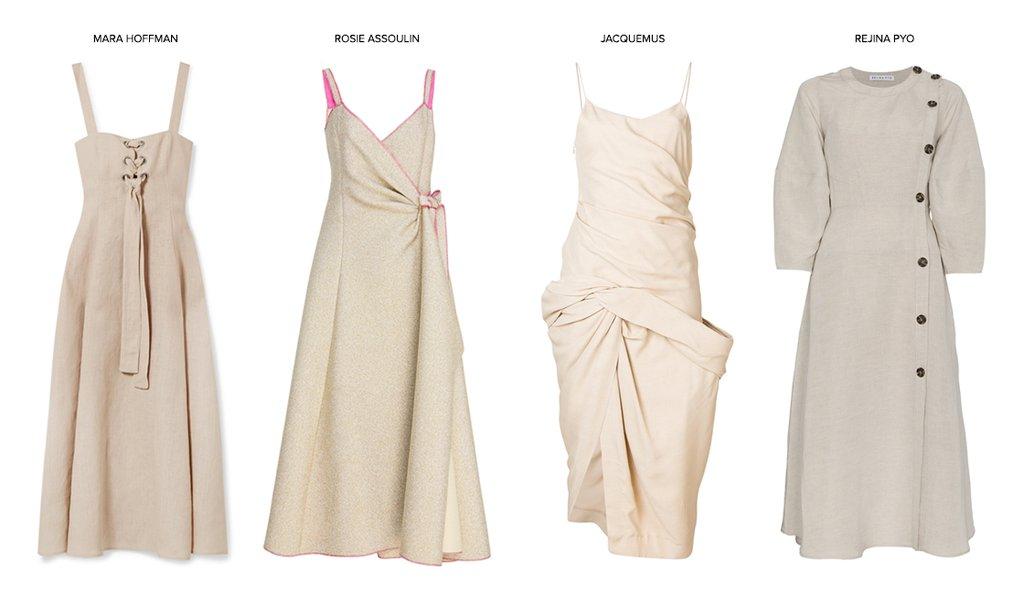 Идеальное сочетание: льняное платье и мюли (фото 1)