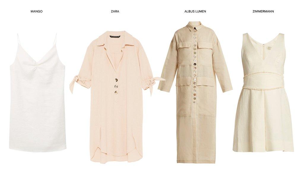 Идеальное сочетание: льняное платье и мюли (фото 3)