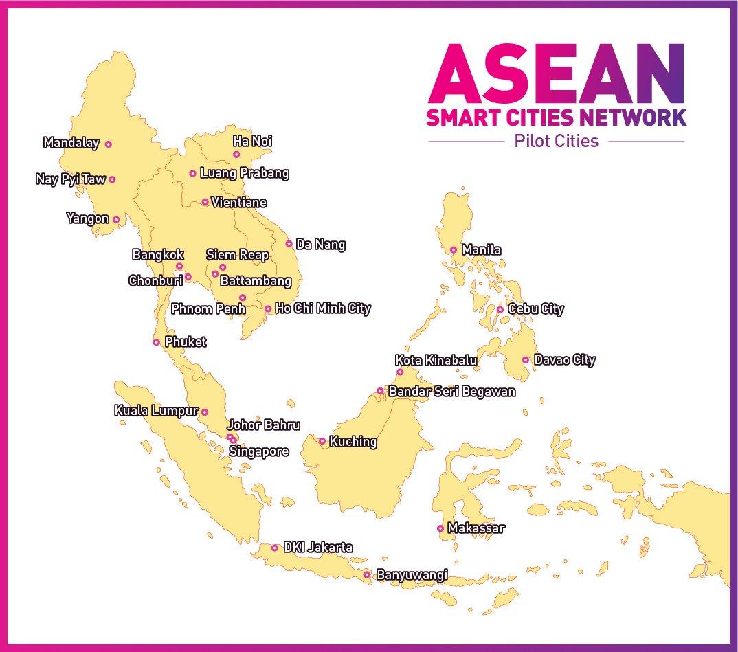 ASEAN Smart Cities Network - Interactive Map