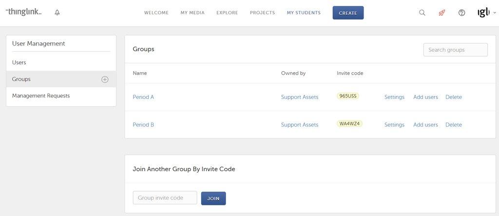 Register Students Via Invite Code Student Management Thinglink