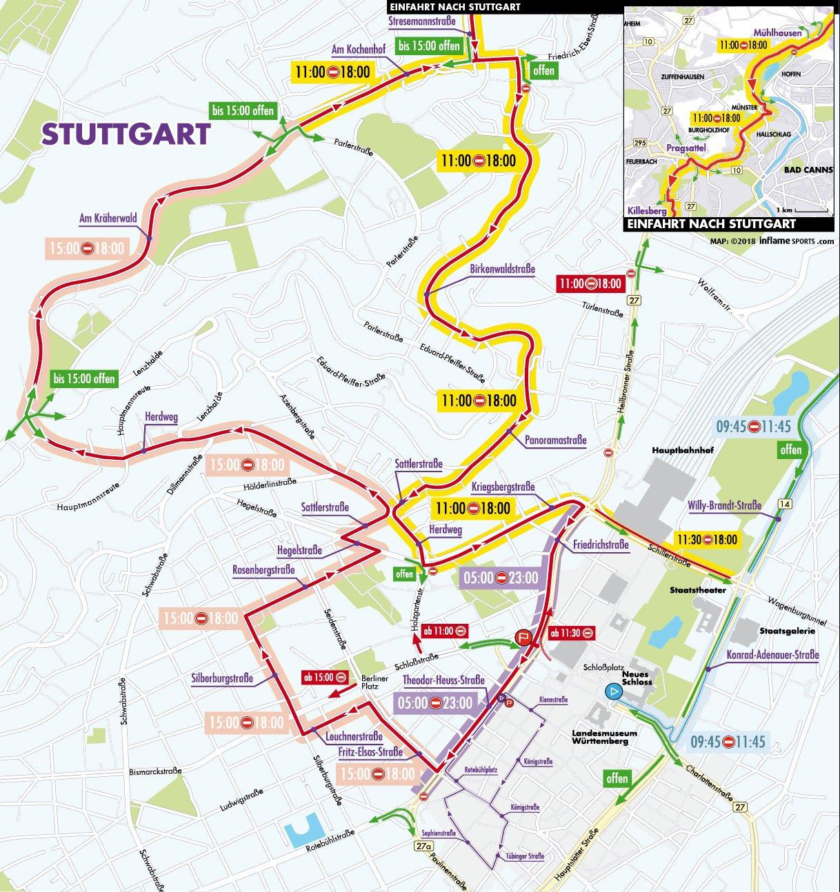 Verkehrsführung während der Deutschland Tour