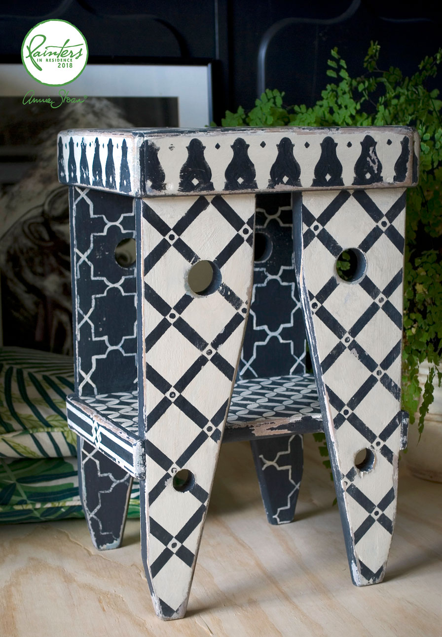 Moroccan Stool by Jeanie Simpson