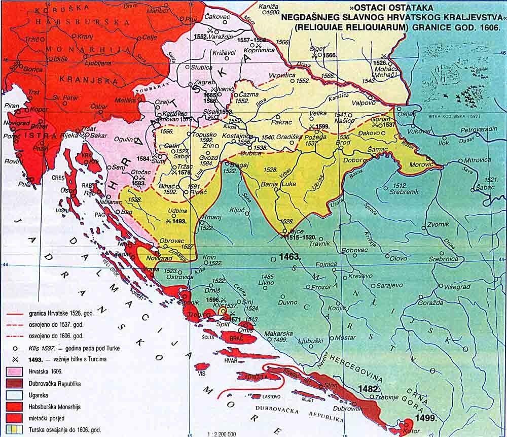 Sukobi s Turcima od 1526.g. do bitke kod Siska