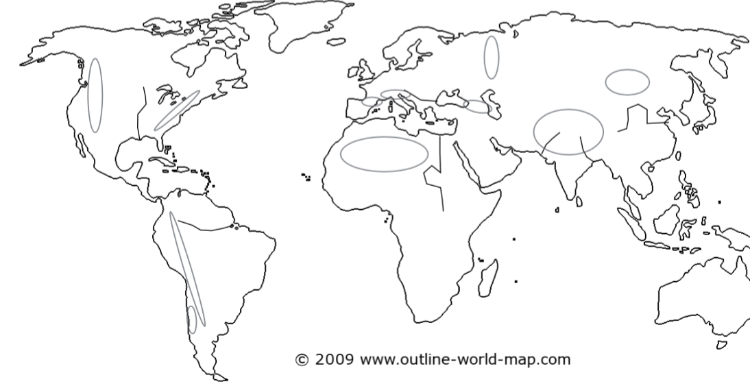 World Map Land & Water