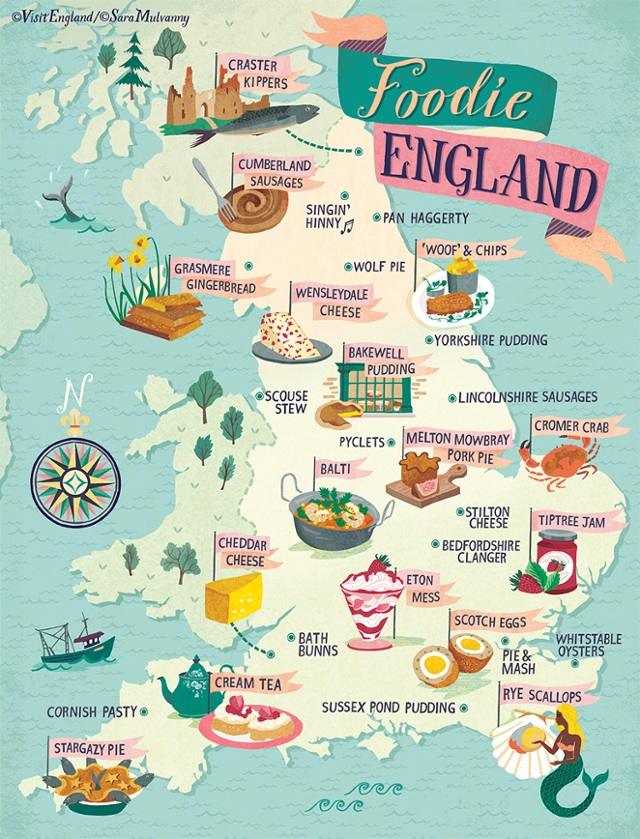 Www Map Of England.Foodie Map Of England Visitengland