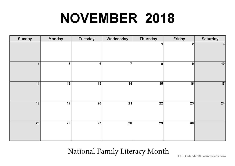 LCNV's Interactive PD Calendar_November 2018