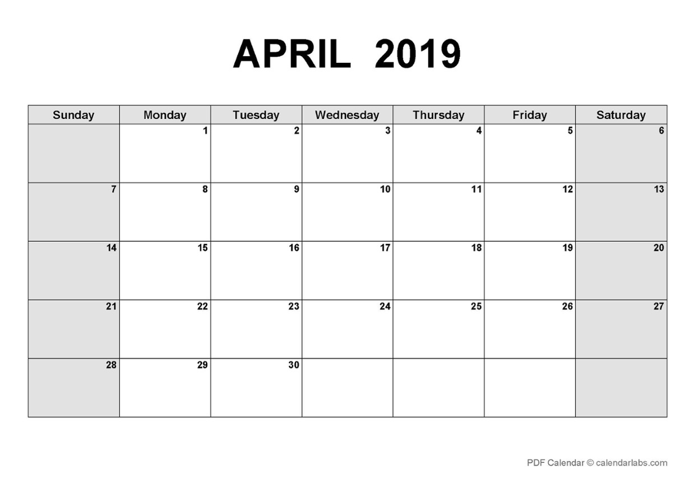 LCNV's Interactive PD Calendar_April 2019