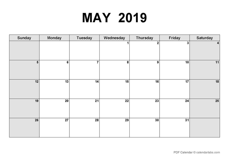 LCNV's Interactive PD Calendar_May 2019