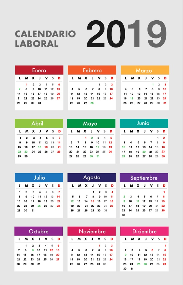 Calendario Laboral Pais Vasco 2019.Infografia Calendario Laboral 2019