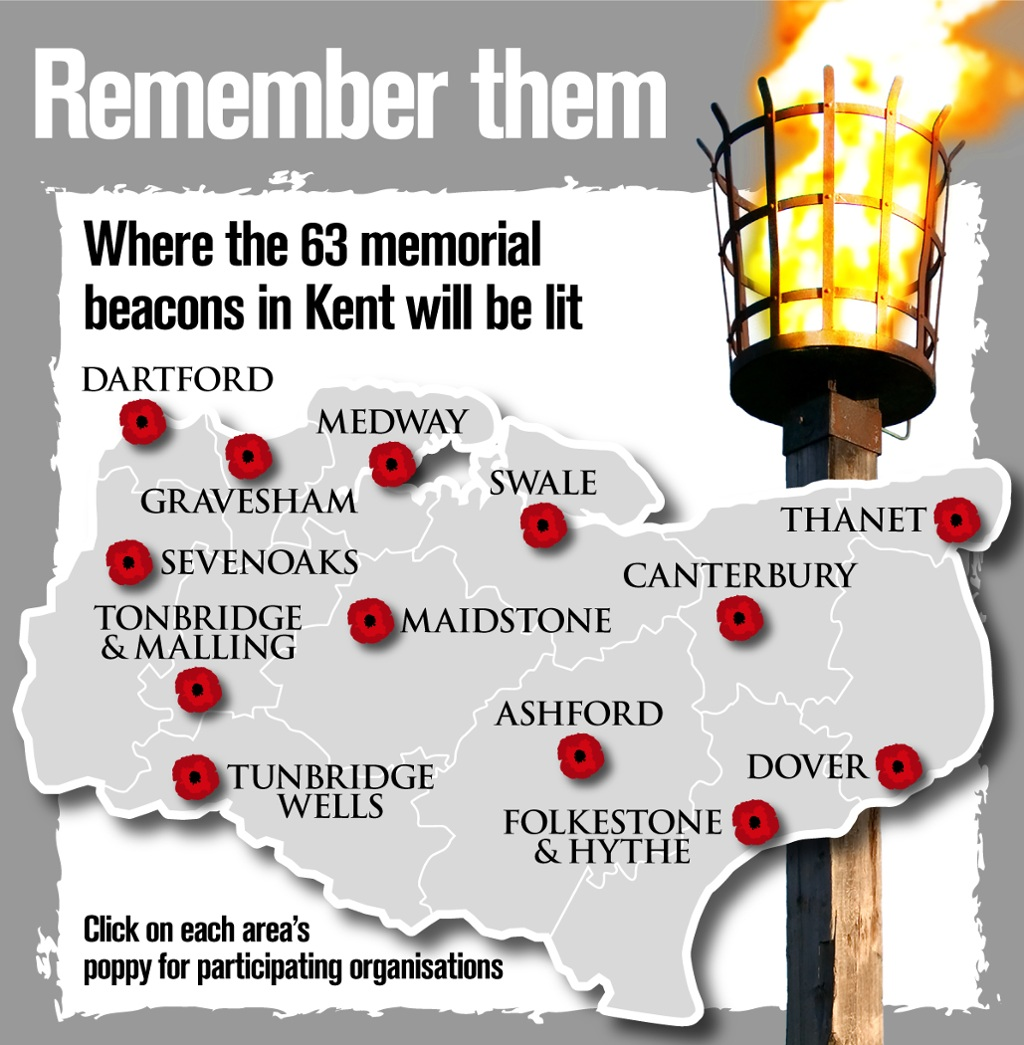 Beacons Being Lit In Newington And Across Kent To Mark 100