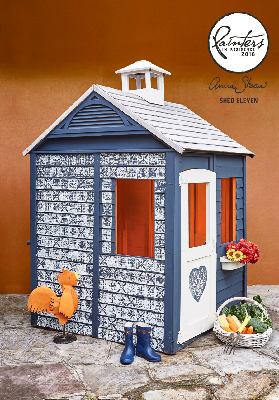 Folk Art Playhouse by shed eleven