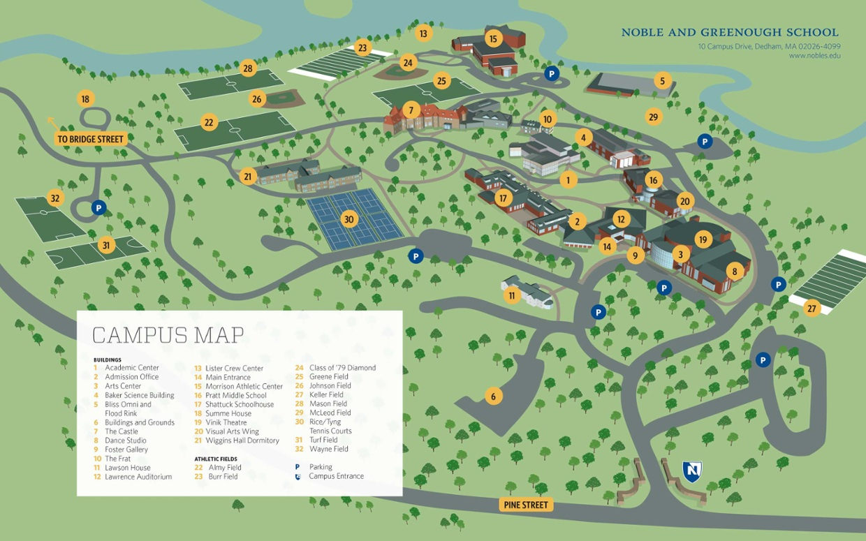 Interactive Nobles Campus Map