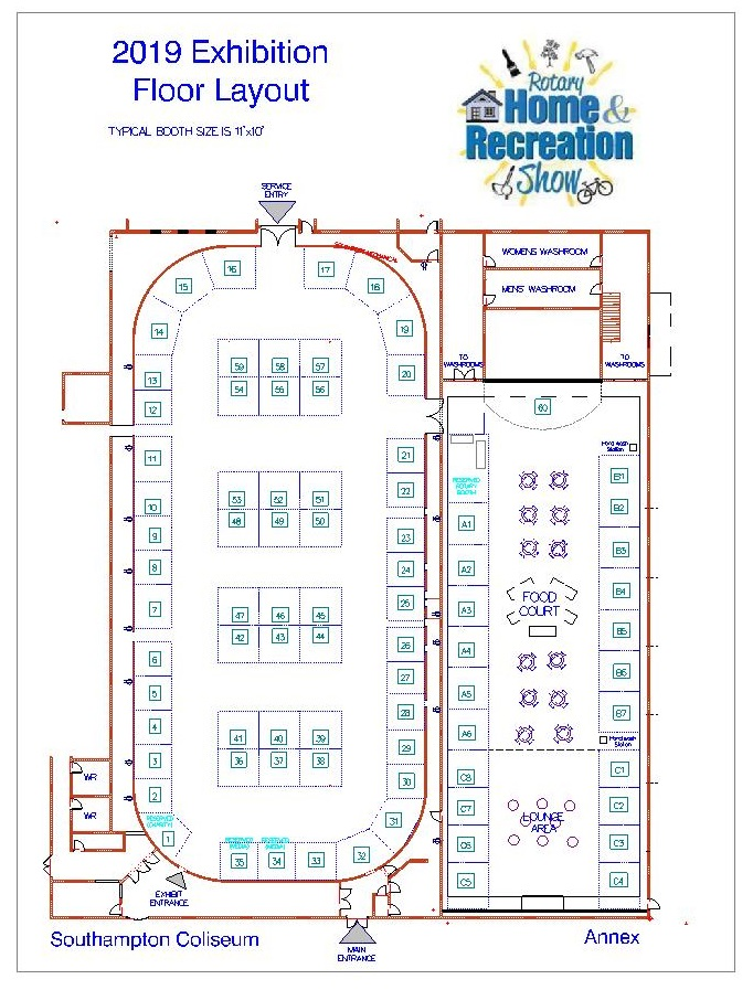 2019 Exhibition Layout