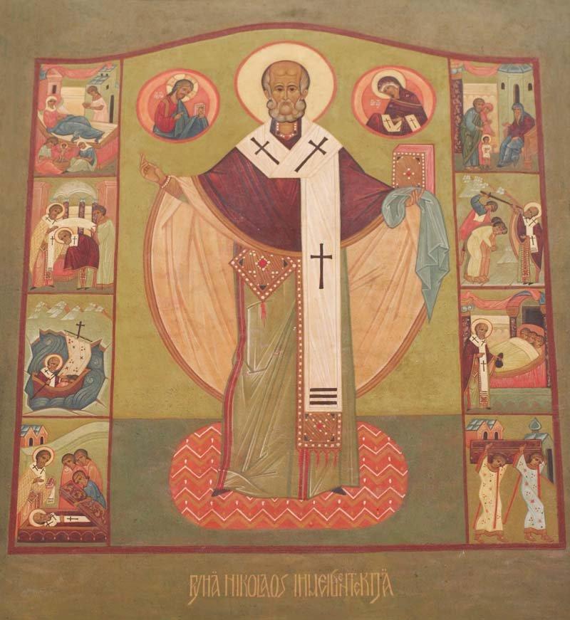 Pyhä Nikolaos ihmeidentekijä - elämäkertaikoni