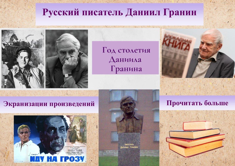 Биография Даниил Александрович Гранин (псевд., настоящая...