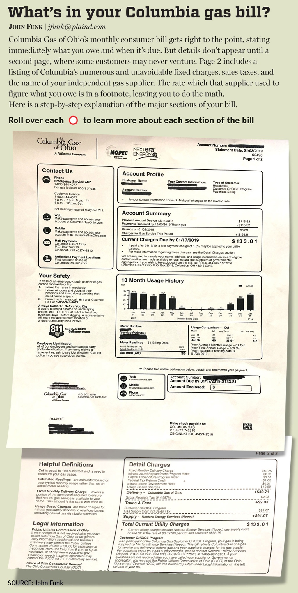Here's how to read and understand your Columbia gas bill