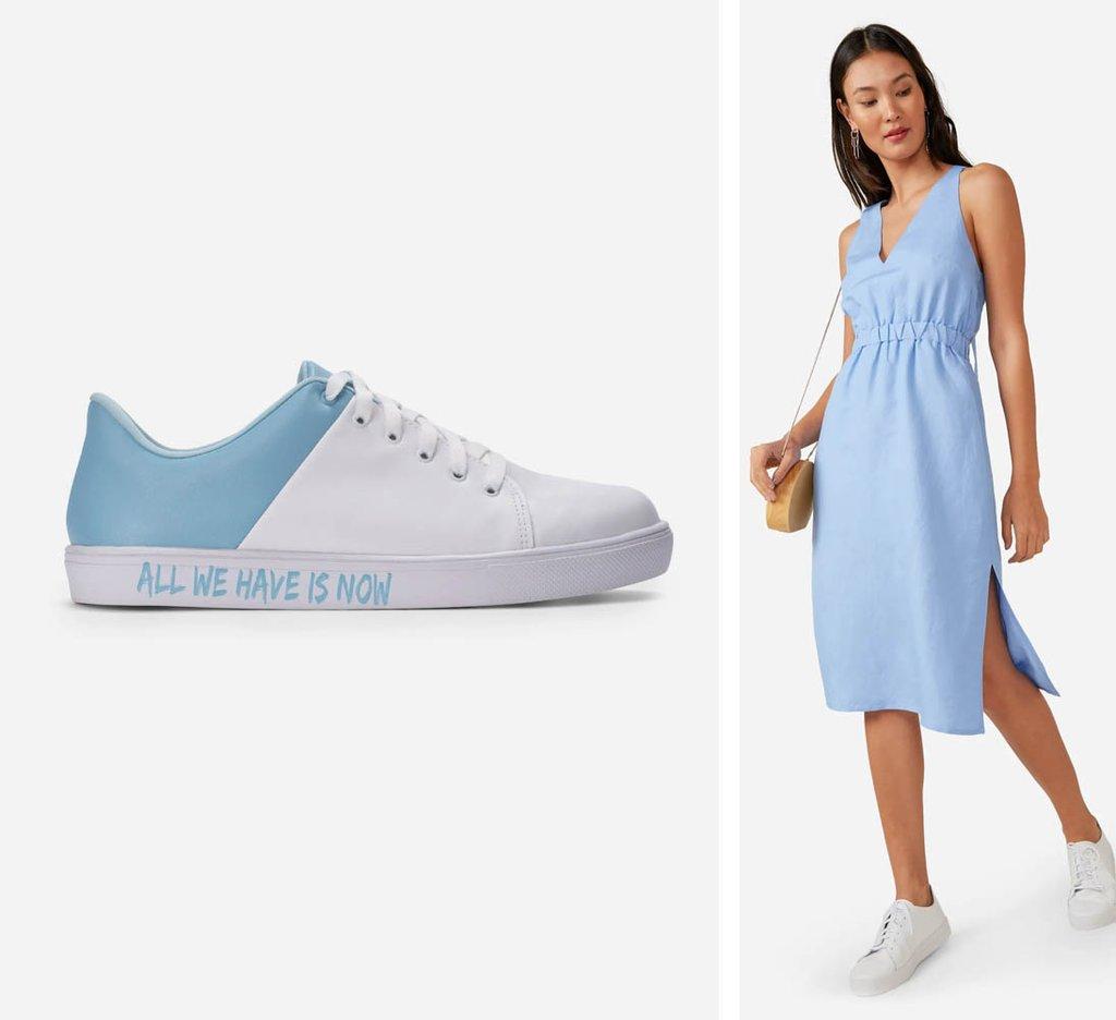 fdae61b76 30 looks de vestido com tênis para usar o ano todo