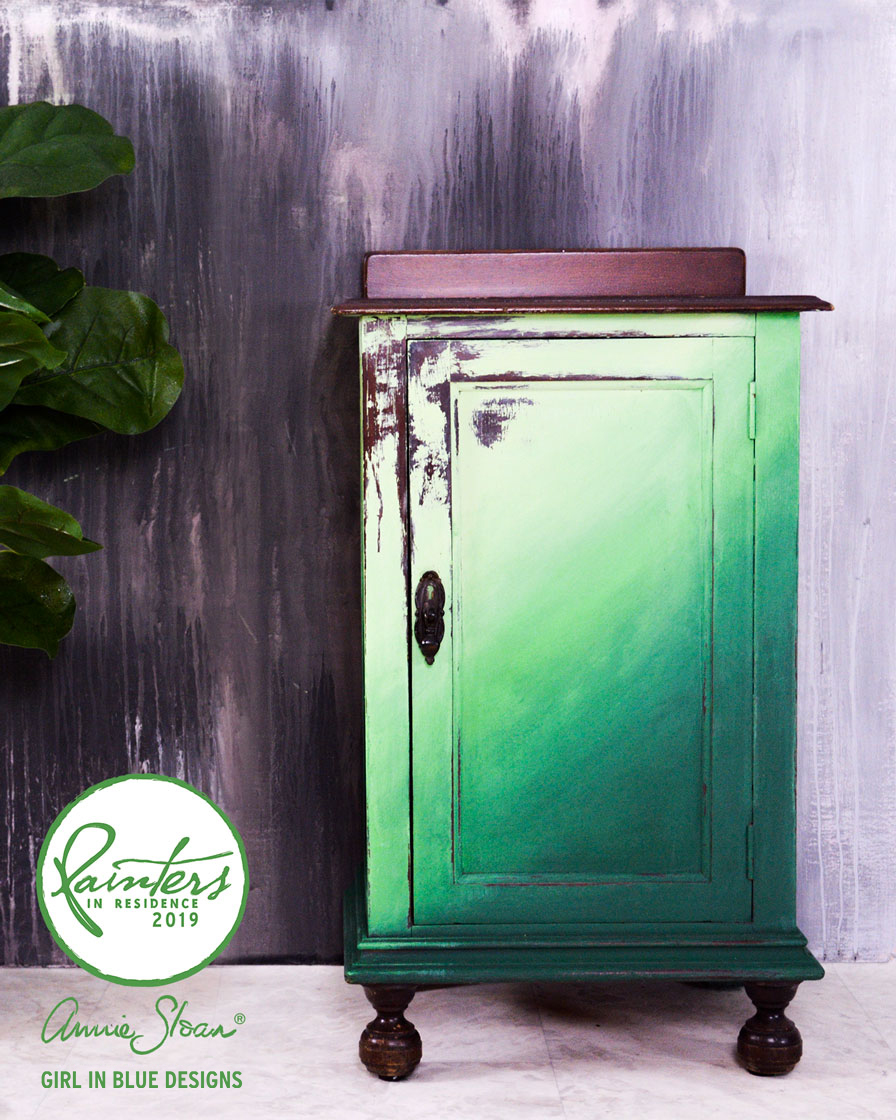 Green Ombre Cupboard by Girl in Blue Designs