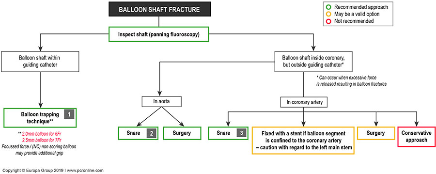 Coronary balloon shaft fracture