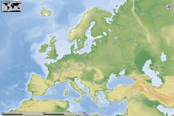 Cartina Politica Muta Dell Europa.Europa Fisica