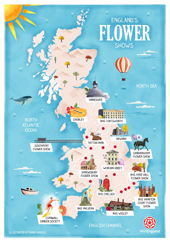 Show Map Of England.England S Flower Shows Visitengland