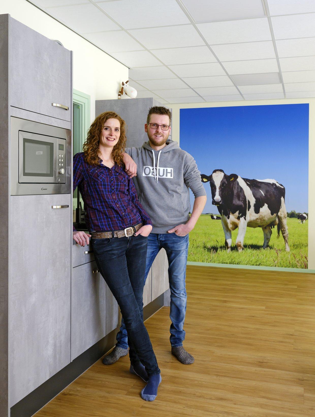 Daniël (35) en Corine (29) Berger en hun kinderen Nadine ...