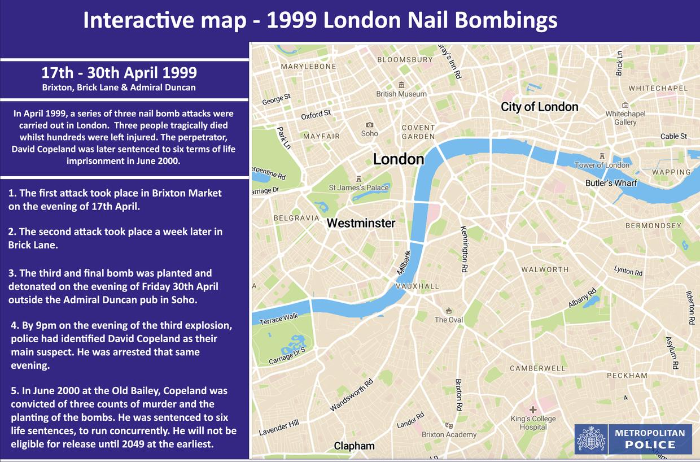 03ff5ec69b Interactive map - 1999 London Nail bombings