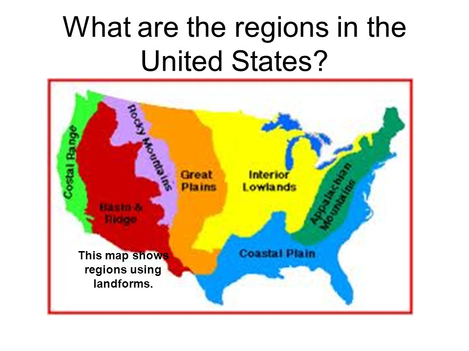 8 Regions Of The Us Map 8 Regions of North America