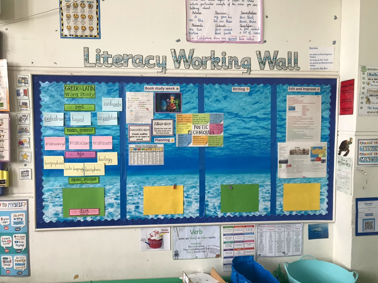 Literacy Working Wall/front of the classroom