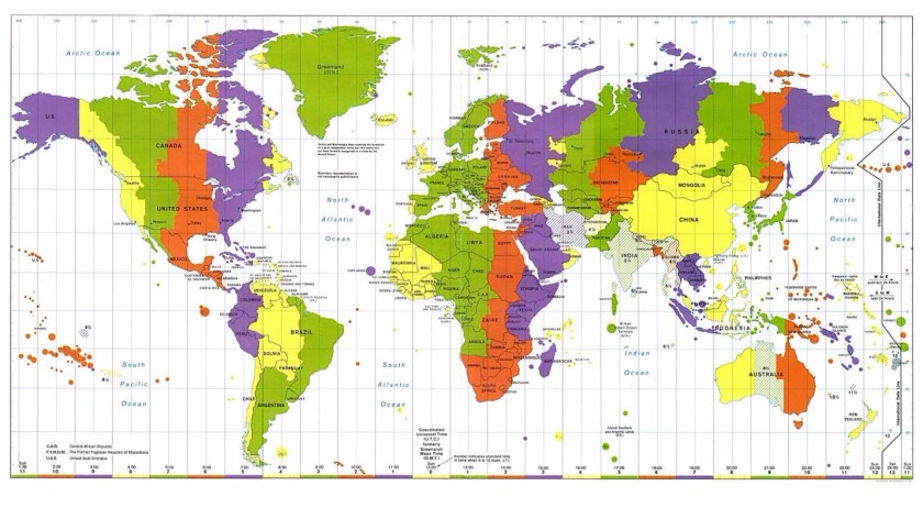 Time Zone Map By Fazan😎😎 And Eligh😎😎
