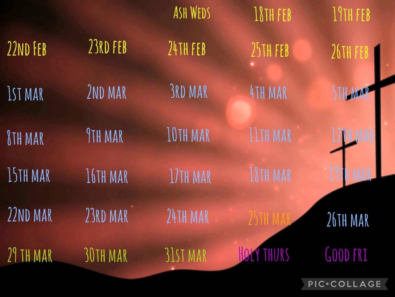 St Alban's Catholic School Lenten Calendar