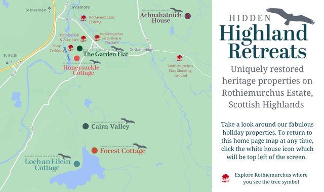 Hidden Highland Retreats map